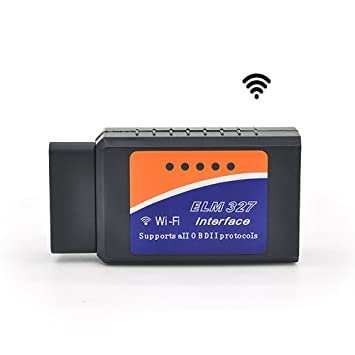 LUJII BDII OBD2 ELM327 Interface WiFi Wireless Car Auto Diagnostic Scanner Scan Tool Adapter Reader for Apple iPhone iPod Touch Android Devices iOS PC