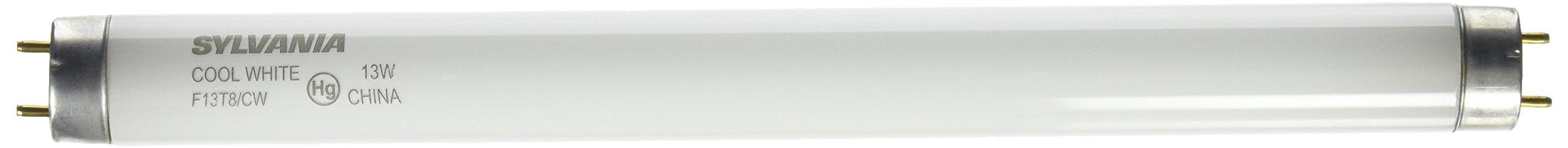 Sylvania 21766 - F13T8/CW Straight T8 Fluorescent Tube Light Bulb