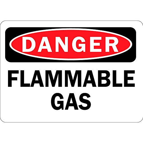Danger Flammable Gas OSHA Metal Aluminum Sign 24