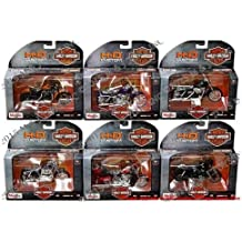 NEW 1:18 MAISTO MOTORCYCLES HARLEY DAVIDSON COLLECTION - CUSTOM MOTORCYCLES SERIES 34 ASSORTMENT Diecast Model Car By Maisto Set of 6 Cars