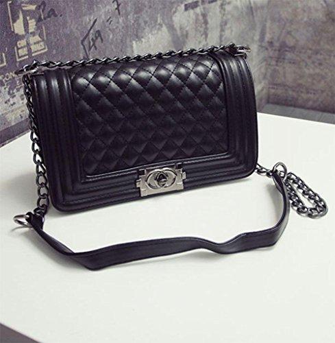 MEILI Stilvolle Lingge Kette Tasche Schulter Messenger Bag weiblich, wild, klassisch 1