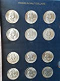 Complete Set Mint State 1948 to 1963 PDS Brilliant Uncirculated Franklin Halfs 35-Coins in Whitman Classic Album BU to Choice BU