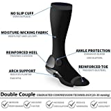5 Pairs Compression Socks for Women Men 15-20mmHg