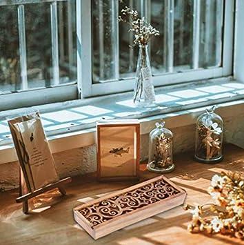 Mesh pattern Estuche Cajas de Madera para L/ápices Pluma Plumier Vintage hueca para bol/ígrafo soporte cajas madera Tire l/ápiz organizador de caja de regalo para adultos escuela viaje