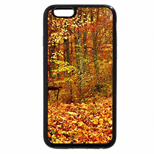 iPhone 6S Case, iPhone 6 Case (Black & White) - Rest in autumn forest