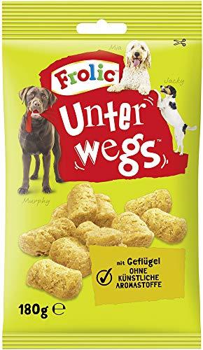 Frolic Hundesnacks Hundeleckerli Unterwegs mit Geflügel, 11 Packungen (11 x 180 g)