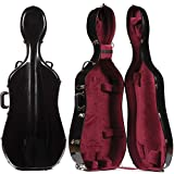 Bobelock 2000WX Black Fiberglass 4/4 Extra Large Cello Case