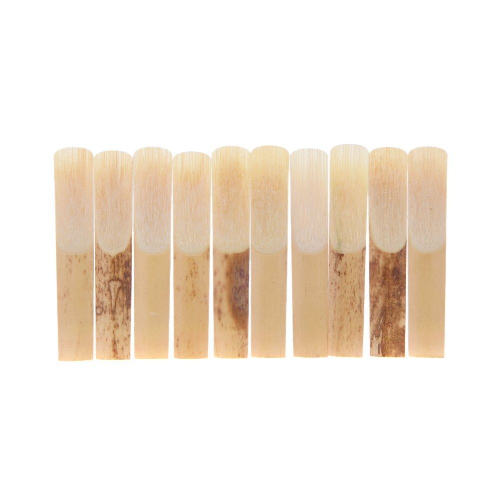 Andoer 10pcs Pieces Clarinet Reed Strength 2.5 2-1/2 Reed Bamboo for Clarinet Accessories instruments