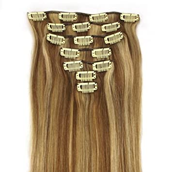 Amazon clip in remy extensions 100 real human hair clip in remy extensions 100 real human hair extension 12613 honey bleach pmusecretfo Gallery