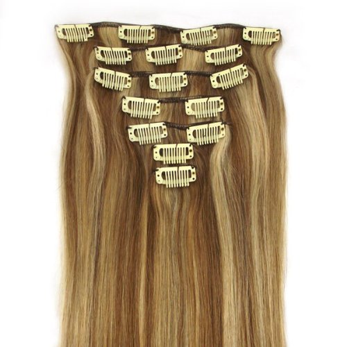 7-piece Honey Bleach Blonde Remy Hair Extension Set