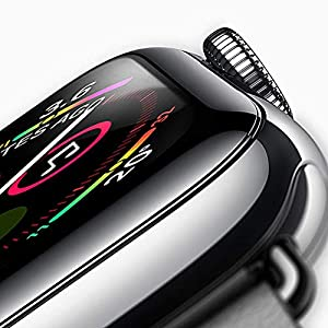 Apple Watch Tempered Glass Screen Protector(2 Pcs),Premium Surface Hardness Full Coverage Metal Frame Tempered Glass Screen Protector for Apple Watch 3/2/1- Black … from KtMata