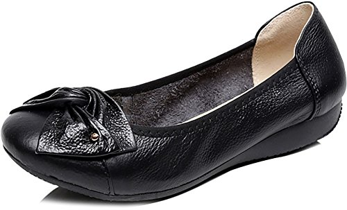 Odema Women's Leather Slip Ons Loafers Flats Moccasins Driving Shoes Casual Walking Shoes 11Colors Size 6.5-9.5