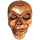 Bali Magic Box -Skull, Shesham Indian Rosewood Hand Carved Artisan Boxes by A & W