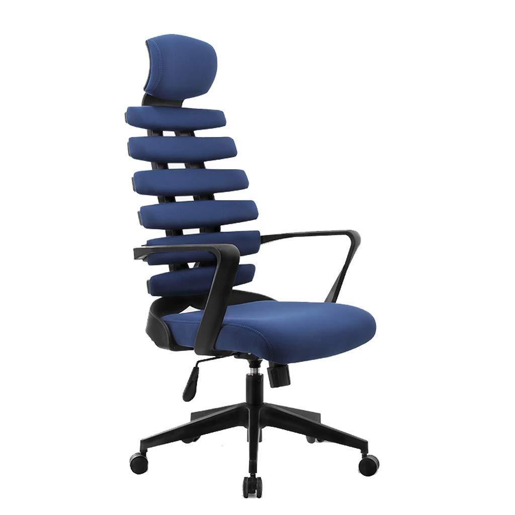 HARD 人間工学的の設計、調節可能なPUのヘッドレストおよび背部サポート、耐久および青を運ぶArmrestの回転仕事の椅子が付いている総本店の椅子   B07R1RKQFB
