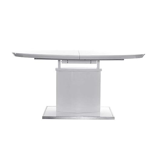 Miliboo - Mesa de comedor diseño extensible 160-200x95 blanca ...