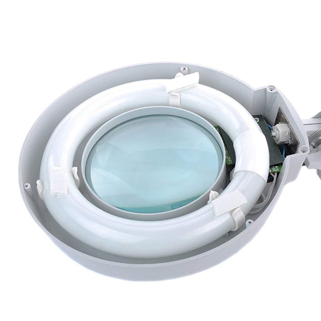 Vinmax 10X Desktop Magnifier Lamp with LED Light |Adjustable Arm Magnifier Lamp Light Magnifying Glass Lens Diopter Folding Magnifier, 110V/220V by vinmax (Image #5)