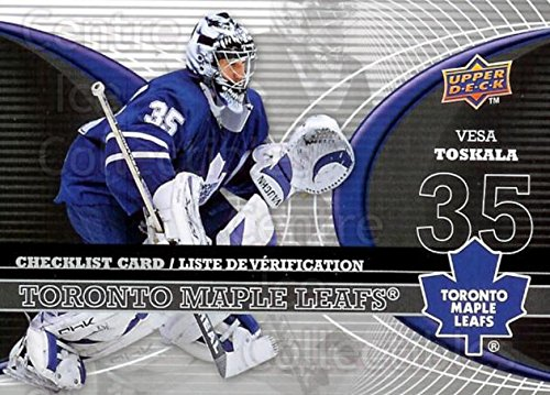 (CI) Vesa Toskala Hockey Card 2008-09 McDonalds Upper Deck Goalie Checklist 5 Vesa Toskala