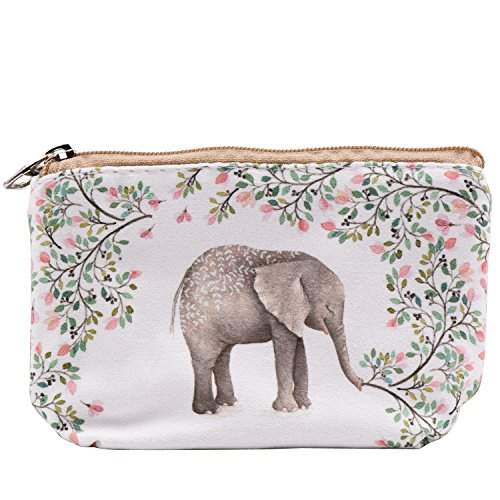 Elephant Purse - Women and Girls Cute Fashion Coin Purse Wallet Bag Change Pouch Key Holder (Forest Elephant)