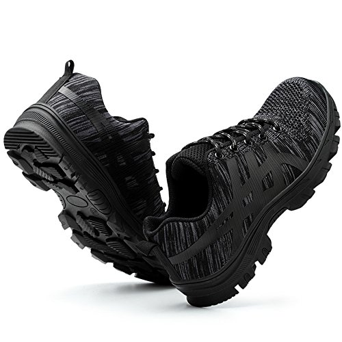 unisex steel toe work shoes industrial&construction shoes puncture proof safety shoes All Black factory outlet cheap price discount for nice NLn6v3dU