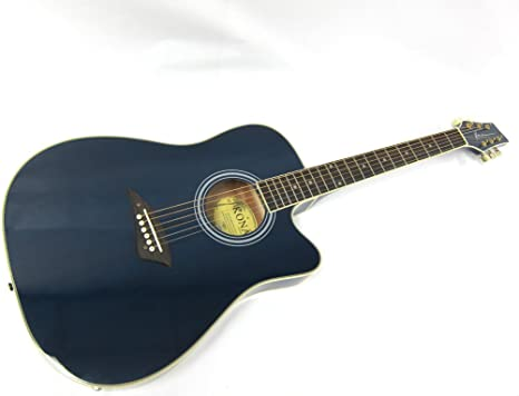 Kona K2 Series Thin Cuerpo Eléctrico/guitarra acústica – azul ...