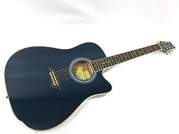 Kona K2 Series Thin Cuerpo Eléctrico/guitarra acústica – azul transparente
