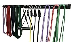 """Anazao Fitness Gear NEW 38"""" Storage Rack for resistance bands and resistance band accessories (Exercise Bars, Handles, Lat Bar and other Gear sold separately on Amazon Prime)"""