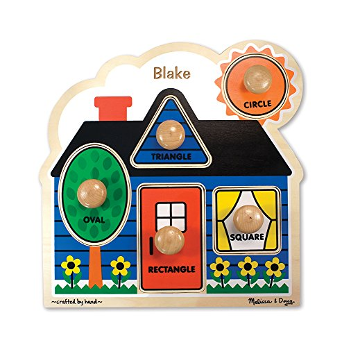 Melissa & Doug Personalized First Shapes Jumbo Knob Wooden Puzzle