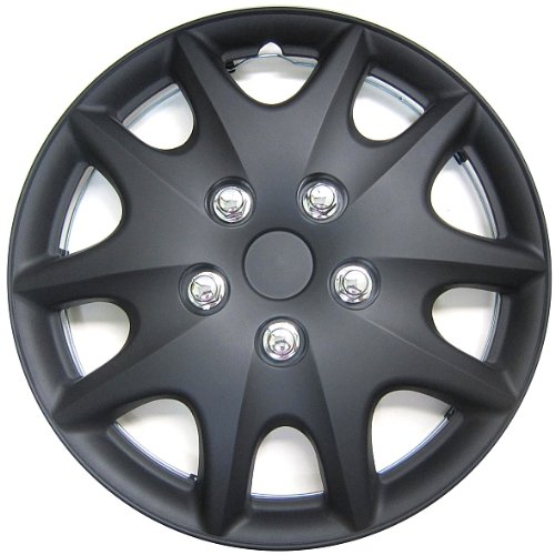Abs Plastic Wheel Cover - Kuan Tong KT1009 Matte Black Finish 14