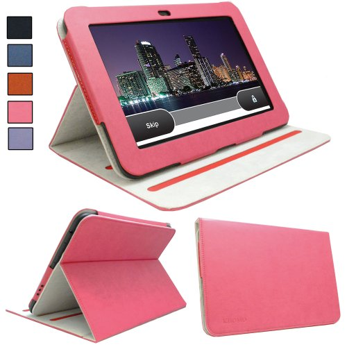 KHOMO ® Pink Standing Leather Case for Amazon Kindle Fire HD 8.9'' inch 4G LTE Tablet
