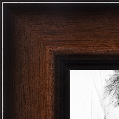 ArtToFrames 24x32 inch Deep Coffee with Gradient Wood Pic...