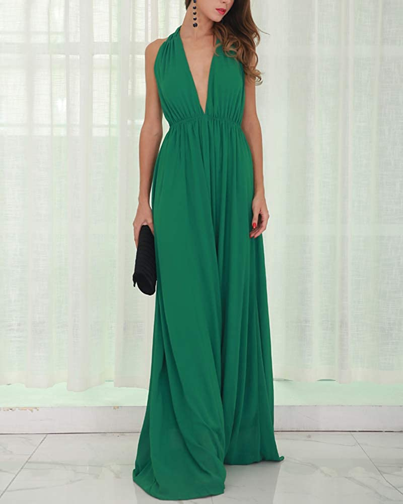 PAIANG Womens Summer Sleeveless Loose Maxi Casual Party Long Dress