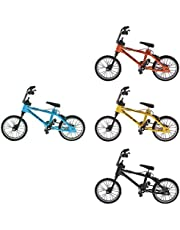 Pack of 4pcs 1/24th Mini Alloy Finger Bike BMX Mountain Bicycle Cycling Toy Gifts Desk Gadget
