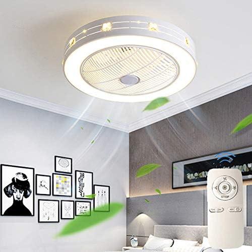 Ventilador De Techo Con Iluminación Luz LED Moderna Temperatura De 3 Colores Velocidad Del Viento Ajustable Regulable Con Control Remoto Para Dormitorio Sala De Estar Comedor 48W (Ø60 * H20cm)
