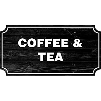 ICandy Combat Coffee Tea Farmhouse Country Sign Rustic Wall Decor Living Room Signs