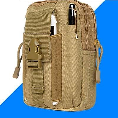 Tactical Pouch  Utility Waist Belt Gadget Gear Bag Phone Holster Brown