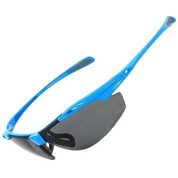 GWELL Herren Damen Polarisierte Sportsonnenbrille 8-er Set mit 5 Farben Wechselgläser UV400 Schutz Radbrille Sportstyle 52Yl8sPrjv