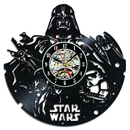 Cheap Creative Star Wars Vinyl Record Clock Bedroom Decoration