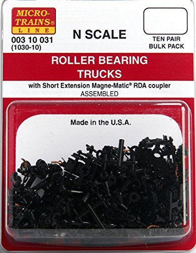 N Scale Roller Bearing Trucks (10-Pair)