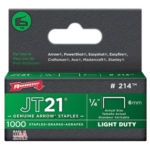 Arrow Fastener 214 Genuine JT21 1/4-Inch Staples, 1,000-Staples (Bulletin Board Stapler compare prices)