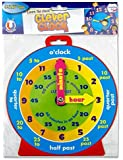 Clever Kidz Teaching Clock. Learn To Tell The Time. Bright and Colourful. 23cm Diameter. Magnetic Back. Learn Hours and Minutes