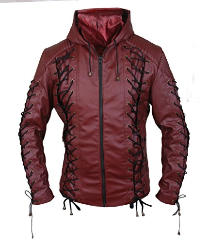 Roy Harper Arrow Costume (F&H Men's Arrow Arsenal Roy Harper Colton Haynes Hooded Jacket XS Maroon)