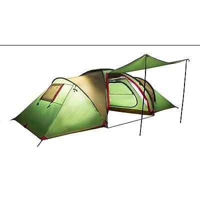 2 Salle 1 Salle 4 personnes grande tente Family Outdoor Leisure Travel Camping grandes tentes résistant au vent et pluie chaude Anti Protection double couche tentes vert (2*135cm+170CM) * 220CM * 170CM