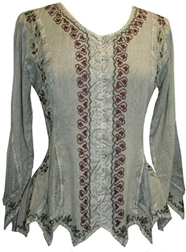 Agan Traders 107 TP Medieval Top Blouse [Sea Green C; - Women And India