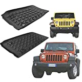 Asatr 3-Piece Slush Style Rubber Mats Jeep Wrangler Four Door All-Weather Floor Mats for Auto SUV Trucks