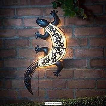 Garten Wanddekoration Aus Metall Mit Hellem Led Licht