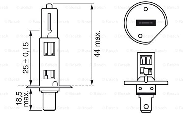 Bosch 1987301105 Glühlampe Gigalight Plus 120 Xenongas H1 12v 55w P14 5s 2er Set Auto