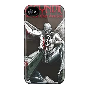 Scratch Protection Hard Cell-phone Cases For Iphone 4/4s With Provide Private Custom Realistic Guns N Roses Image Marycase88