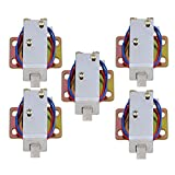 Yibuy 5Pieces TFS-A12 Durable Electric Lock Assembly Solenoid Long Life Span DC0.6A