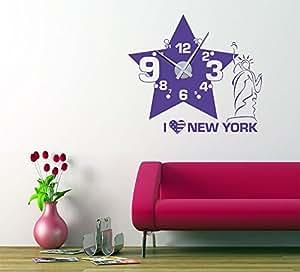 Graz Design 750090_ 50_ 070–Adhesivo decorativo para pared, diseño retro Love & Peace con adornos, 76x 40cm), color azul claro