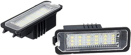GZLMMY - 2 luces LED para matrícula de Golf 4/5 Passat 3C Limo ...